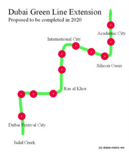 Dubai Metro Green line Extension