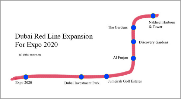 Dubai Metro Red Line Expansion