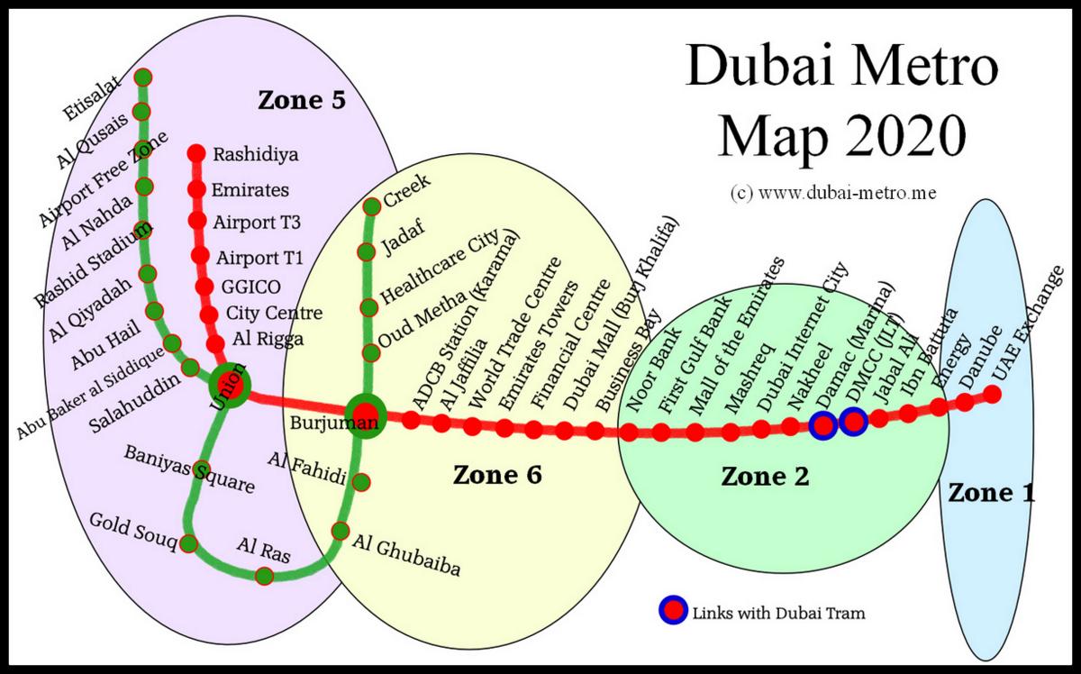 Dubai Metro Map